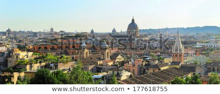 Roma skyline colore edifici cielo blu Foto d'archivio © ShustrikS