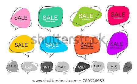 nagy · szövegbuborék · színes · kicsi · buborékok · fehér - stock fotó © orson