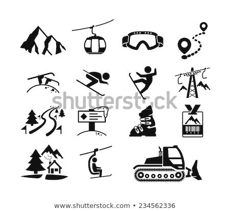 skiing icon set Stock photo © ayaxmr