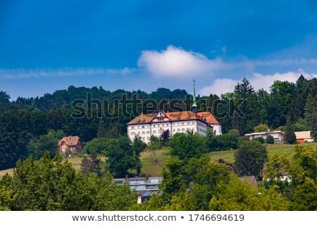 Kolostor szent tó Svájc kilátás épület Stock fotó © boggy