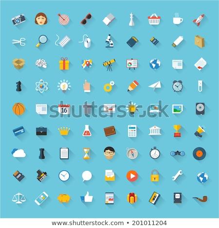 Vektor távcső szimbólum ikon terv égbolt Stock fotó © nickylarson974