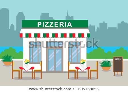 Pizzeria Exterior, Facade of Pizza House Bistro Stock photo © robuart