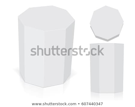 Cartón contenedor hexágono forma envases vector Foto stock © pikepicture