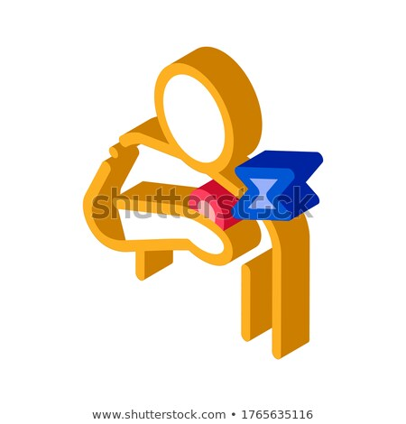 Mellkas fájdalom izometrikus ikon vektor felirat Stock fotó © pikepicture