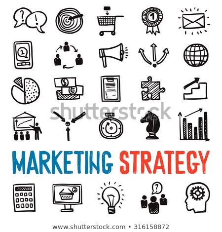 Internet Marketing Strategy Vector Glyph Icon Stock photo © smoki