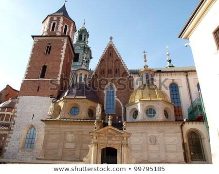 Torony Krakkó Lengyelország katedrális égbolt utazás Stock fotó © borisb17