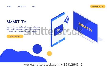 Sitio web ver vídeo icono vector Foto stock © pikepicture