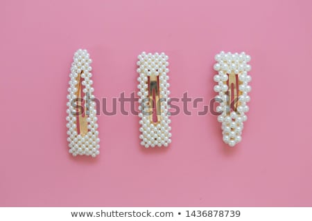 Colorful jewel hair pin isolated  on white background Stock photo © Ansonstock