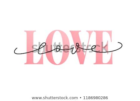 Love text vector stock photo © zsooofija