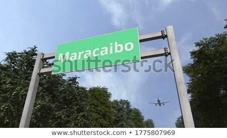 Венесуэла шоссе знак зеленый облаке улице знак Сток-фото © kbuntu