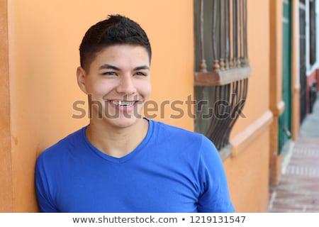 Hiszpanski hiszpańskie chłopca młodzieży teen dorastający Zdjęcia stock © godfer
