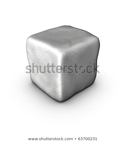 1 one 3d singular cobble stone on white Stock photo © Melvin07