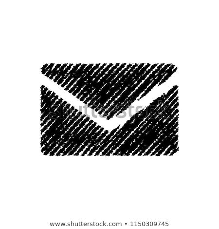 Stok fotoğraf: Chalkboard - Envelope