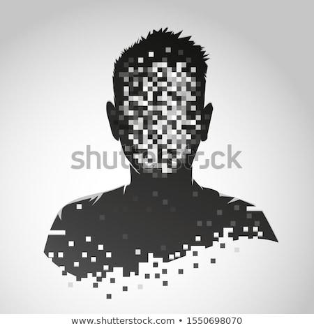 Anonyme symbole Homme masque bureau Photo stock © sahua