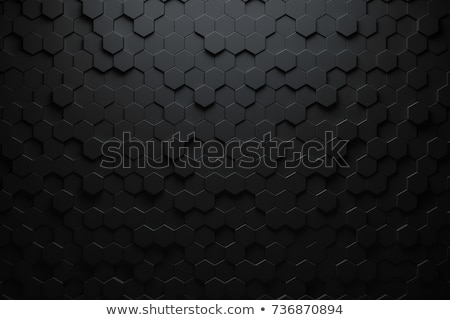 zwarte · 3D · abstractie · futuristische · plaat · plaats - stockfoto © FransysMaslo