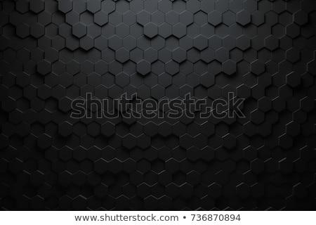 Zwarte 3D abstractie futuristische plaat plaats Stockfoto © FransysMaslo
