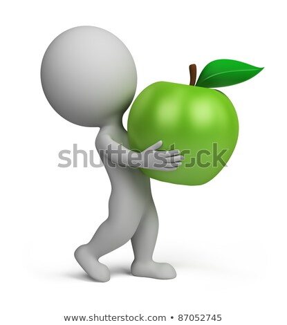 3d small people - apple Stock photo © AnatolyM