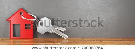 3D · casa · chave · 3d · render · cadeia · negócio - foto stock © nasirkhan