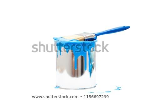 バケット 塗料 絵筆 ベクトル 木材 作業 ストックフォト © almoni
