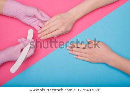 manikűr · eljárás · szépségszalon · profi · kezek · közelkép - stock fotó © sahua