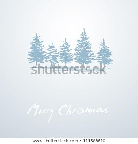 Photo stock: Simple · vecteur · grunge · Noël · décoration