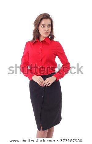 красоту женщины красный блузка черный юбка Сток-фото © zybr78