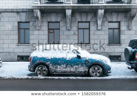 Cars in snowstorm Stock photo © mikdam