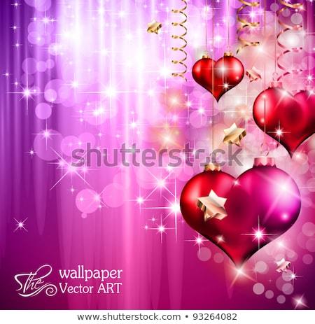 parlak · renkli · kalpler · iç · küresel - stok fotoğraf © davidarts