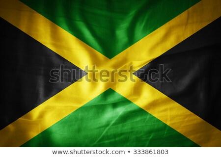 Grunge bayrak Jamaika eski bağbozumu grunge texture Stok fotoğraf © HypnoCreative