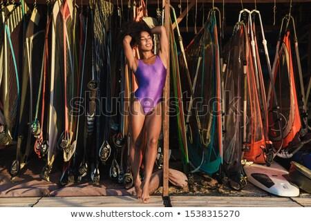 verleidelijk · vrouw · oceaan · surfen · bikini - stockfoto © peterveiler