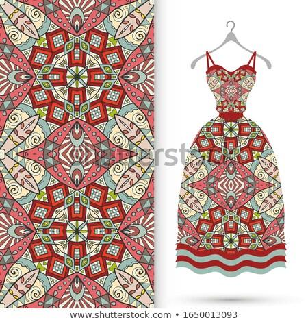 Mulher verão vestir mulher jovem branco Foto stock © peterveiler