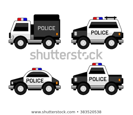 Cartoon police voiture visage sécurité rapide Photo stock © blamb
