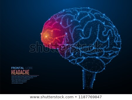 Stock photo: Brain head ache