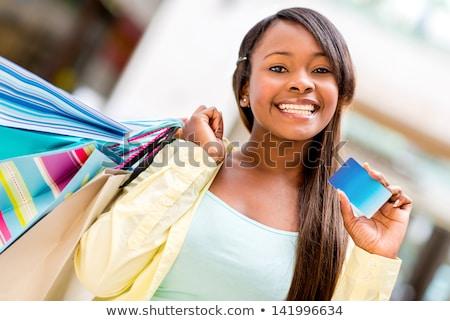 Szczęśliwy kobieta zakupy piękna młoda kobieta na zewnątrz Zdjęcia stock © jaykayl
