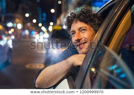 abstrato · aceleração · acelerar · movimento · noite · estrada - foto stock © iscatel