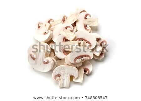 Szeletel champignon gombák köteg izolált fehér Stock fotó © Gertje