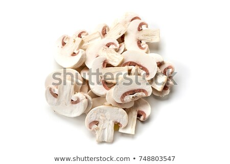 Sliced champignon mushrooms Stock photo © Gertje
