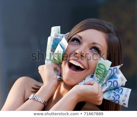 businesswoman with portfolio and money Stock photo © marylooo