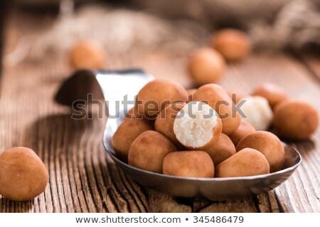 marsepein · aardappel · kaneel · poeder - stockfoto © joannawnuk