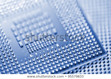 CPU and socket closeup. Very shallow depth of field. Stock photo © moses
