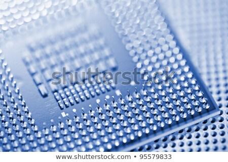 processzor · foglalat · alaplap · kék · üres · processzor - stock fotó © moses