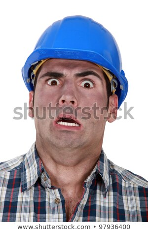 Shocked builder covered in soot Stock photo © photography33