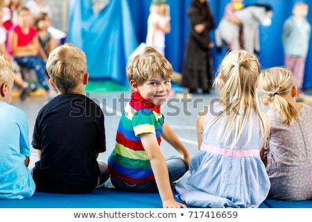 çocuklar konser kız çocuklar mikrofon erkek Stok fotoğraf © Galyna