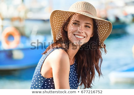 woman with a hat laughing Stock photo © photography33