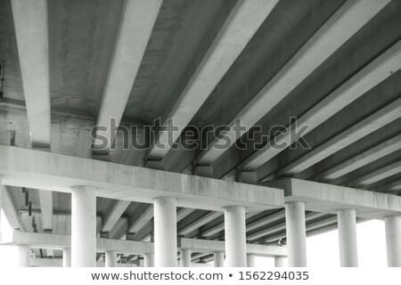 Concrete piano tunnel luce del sole ombra Foto d'archivio © Aliftin