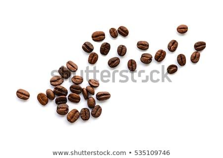 ストックフォト: 中心 · コーヒー豆 · 孤立した · 白 · コーヒー · 背景