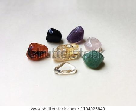 Ametist kristal makro yalıtılmış kaya mor Stok fotoğraf © manfredxy