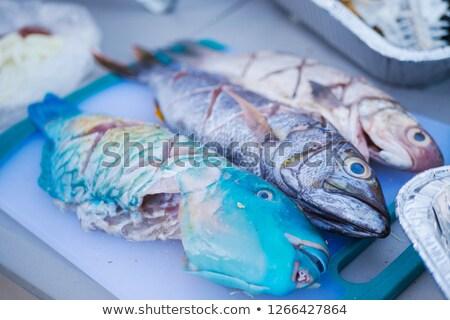 finom · tengeri · hal · szabadtér · étel · BBQ · grillezett - stock fotó © franky242