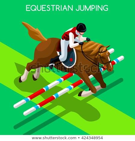 athlete equestrian stock photo © sahua