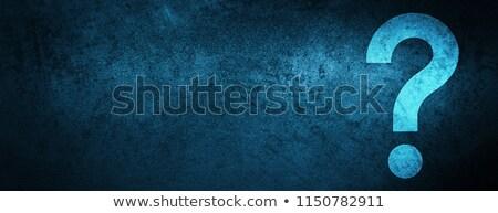question · symbole · icône · bleu · isolé · blanche - photo stock © johanh